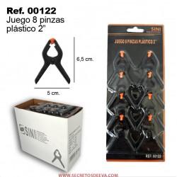 """JUEGO 8 PINZAS PLASTICO 2"""""""