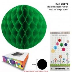 Bola de Papel Patrick 30cm con Forma de Panel de Abeja
