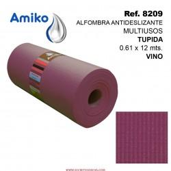 Alfombra Antideslizante Multiusos Tupida Vino 0.61x12M Amiko