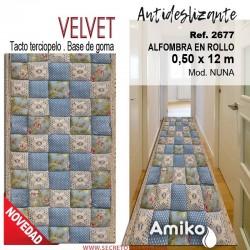ALFOMBRA EN ROLLO VELVET 0,50X12M MOD. NUNA