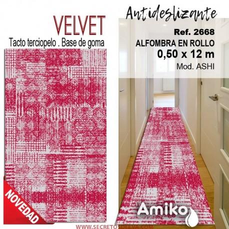ALFOMBRA EN ROLLO VELVET 0,50X12M MOD. ASHI