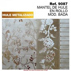MANTEL DE HULE EN ROLLO DE 18 METROS MOD. RUSH EFECTO METALIZADO