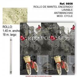 MANTEL BARNIZADO LAVABLE ANTIMANCHAS EN ROLLO MOD. CYCLE