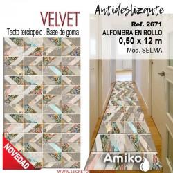 ALFOMBRA EN ROLLO VELVET 0,50X12M MOD. SELMA