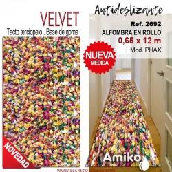 ALFOMBRA EN ROLLO VELVET 0,65X12M MOD. PHAX