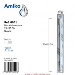 Barra Telescópica Multifunción 70-115cm Blanca Amiko