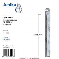 Barra Telescópica Multifunción 70-115cm Cromada Amiko