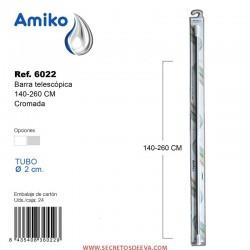 Barra Telescópica Multifunción 140-260cm Cromada Amiko