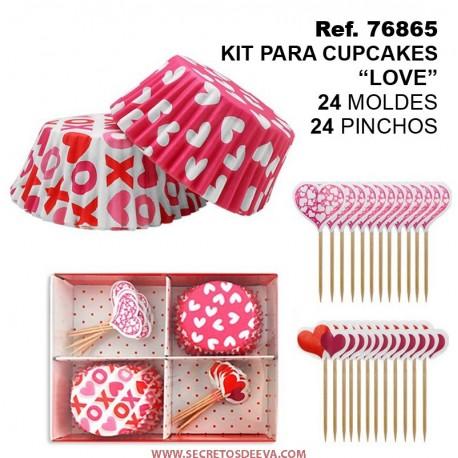 Kit para Cupcakes 35mm Love