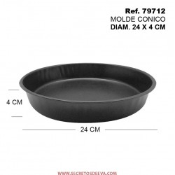 Molde Cónico Diámetro 24x4cm