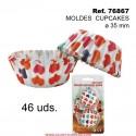 46 Moldes Cupcakes 3,5 cm CORAZONES