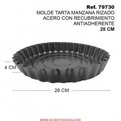 Molde Tarta Manzana Rizado de Acero con Recubrimiento Antiadherente
