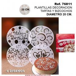Pantalla Decoración Tartas y Bizcochos 20cm