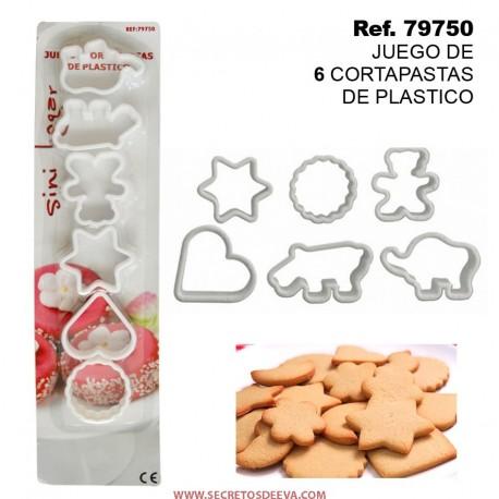 Juego de 6 Cortapastas de Plástico
