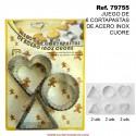 Juego de 6 Cortapastas de Acero Inox Cuore