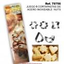 JUEGO DE 5 CORTAPASTAS DE ACERO INOX NUTS