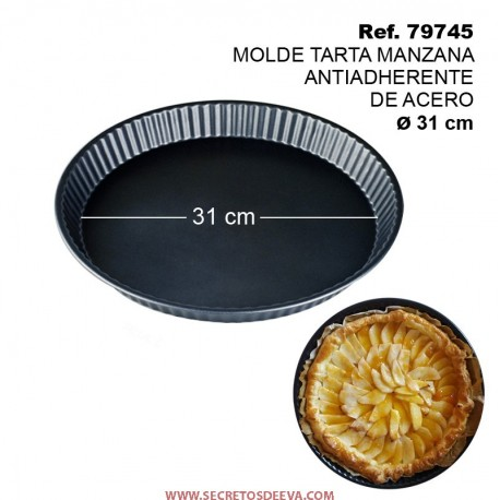 Molde Tarta Manzana Antiadherente de Acero