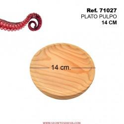 Plato de Pulpo 14cm Diámetro