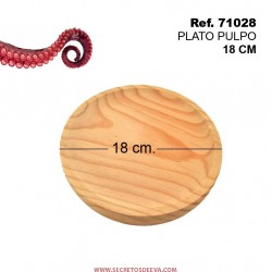 Plato de Pulpo 18cm Diámetro