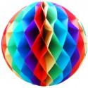 Bola de Papel Arcoiris con forma de panel de Abeja