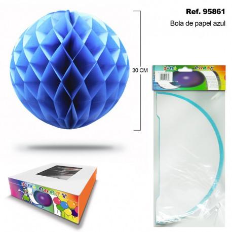 Bola de Papel Azul con Forma de Panel de Abeja SINI