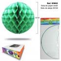 Bola de Papel Verde con Forma de Panel de Abeja SINI