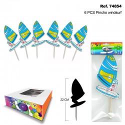 Set de 6 Pinchos Windsurf para Canapés y Bebidas SINI