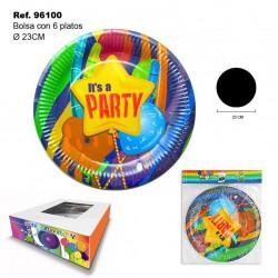 "Set de 4 Platos Party para Fiesta ""It's a Party"" SINI"