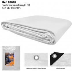 Toldo Blanco 5X8m 190gr Reforzado