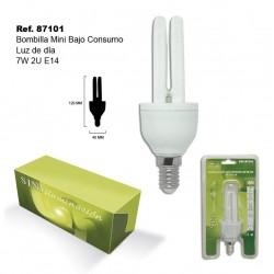 Bombilla Mini Luz Día 7W 2U E14 Bajo Consumo SINI