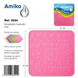 Salvaplatos Cuadrado 30cm Azul Amiko